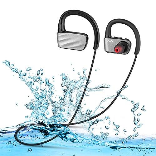 Auricolari bluetooth sport cuffie senza fili in-ear sportivi ipx7 impermeabili universali iphone sony huawei mp3 per nuoto palestra corsa surf siroflo (nero)