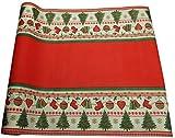 khevga Tischläufer Weihnachten Einweg aus Papier in rot Tischdecken-Rolle Einmal-Tischdecke 40 x 490 cm