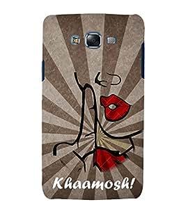 Khamosh 3D Hard Polycarbonate Designer Back Case Cover for Samsung Galaxy J7 J700F (2015 OLD MODEL) :: Samsung Galaxy J7 Duos :: Samsung Galaxy J7 J700M J700H