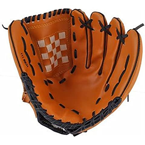 SaySure - Dark Brown Durable Men Softball Baseball Glove
