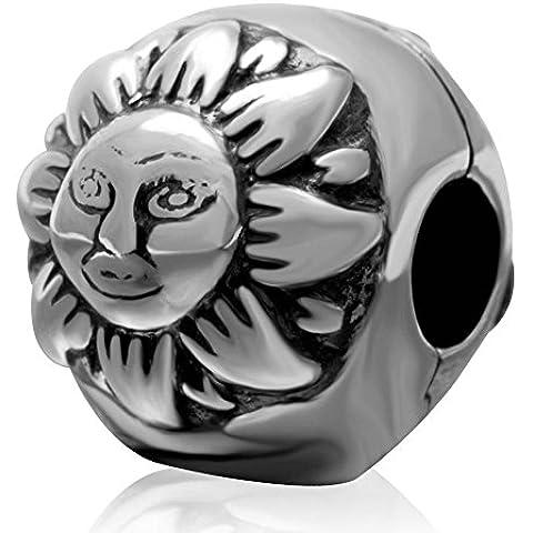 soulbead envejecido Día y la noche Clip Charm de plata de ley 925Bead para COMPATIBLES principales marca pulsera