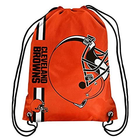 Forever Collectibles Big Logo 2015 Drawstring Backpack, Cleveland Browns, One Size