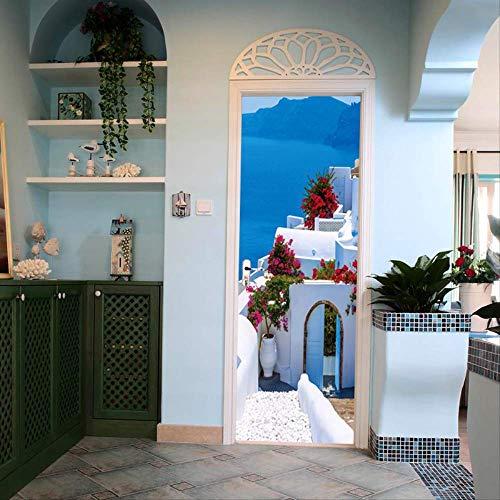 Griechischen stil stadt wohnzimmer veranda wandaufkleber 38,5 cm * 200 cm * 2 stücke (Griechische Buchstaben, Kleidung)