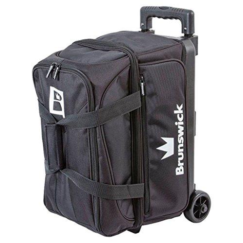 Brunswick Blitz Double Roller Bowling Bag, Black