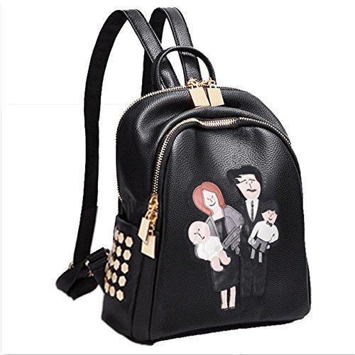 CengBao elegante dual borse tracolla femmina versione coreana della nuova ondata di primavera ed estate tempo libero Ms. schoolbags zaino viaggio minimalista imballaggi di piccole dimensioni e il Nella stessa famiglia di felicità