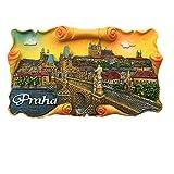 MUYU Magnet 3D Charles Bridge Vltava Praha Prag Tschechische Republik Kühlschrankmagnet, Reise-Aufkleber, Souvenir, Home & Kitchen Dekoration, Prag, Tschechische Republik Kühlschrankmagnet