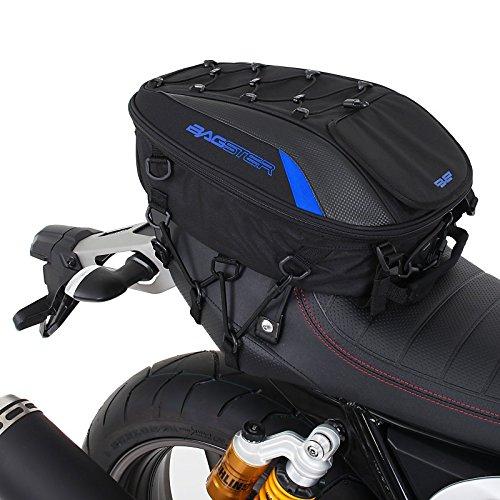 Motorrad Sozius Sitz Hecktasche Bagster Spider blau Aprilia RST 1000 Futura