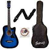 JUAREZ JRZ38C Right Handed Acoustic Guitar (Blue Sunburst, 6 Strings)