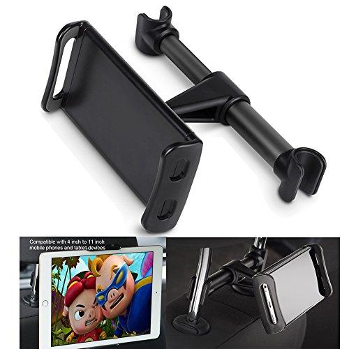 Auto Kopfstütze Halterung, verstellbare iPad Standplatz Autositz Tablet Halter, Cradle für iPad/Samsung Galaxy Tabs/Amazon Kindle Fire HD/Nintendo Schalter, alle 4 bis 10,1 Zoll Geräte und Tablets -