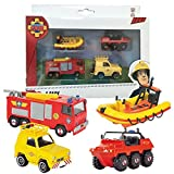 Feuerwehrmann Sam - Mini Die Cast Serie - Set Jupiter, Neptun, Hydrus, Jeep