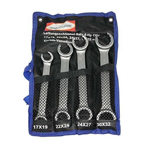 Offener Ringschlüssel-Satz 4-tlg 17-32 mm Brems-Hydraulik-Leitungsschlüssel