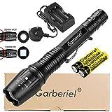 Garberiel Super Bright LED Torch, Rechargeable, Adjust Focus, Waterproof, 1200 Lumens 18650 Flashlight