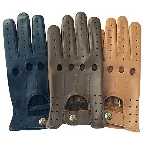 Classique pour Homme en Cuir Nappa de vachette véritable Conduite Moto robe fashion 507Paire de gants Taille S