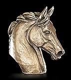 Pferde Kopf Büste - Bronze-Optik Figur Statue Deko