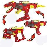 Gaddrt Verwandlung Dinosaurier Spielzeug Lichter Sound 3 in 1 T-Rex Super Charge Morpher Toy Spielzeug