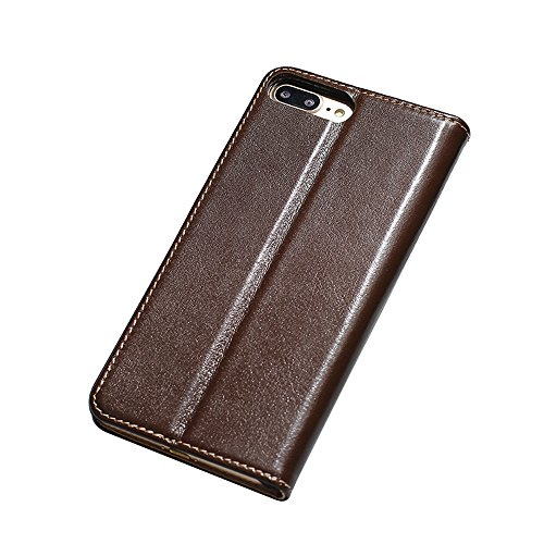 iPhone7 Plus Etui,EVERGREENBUYING - Coque Portefeuille Cuir avec stand IPHONE 7+ Premium Etui de Protection [avec Fente pour carte] Case Cover pour iPhone 7 Plus 5.5 inch Noir Dark Marron