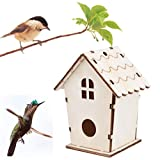 squarex Wooden house resting place for birds - Provides shelter from cold weather - DIY Nest Dox Nest House Bird Box,Ideal for Finch & Canary (A (Size: 11x9cm))
