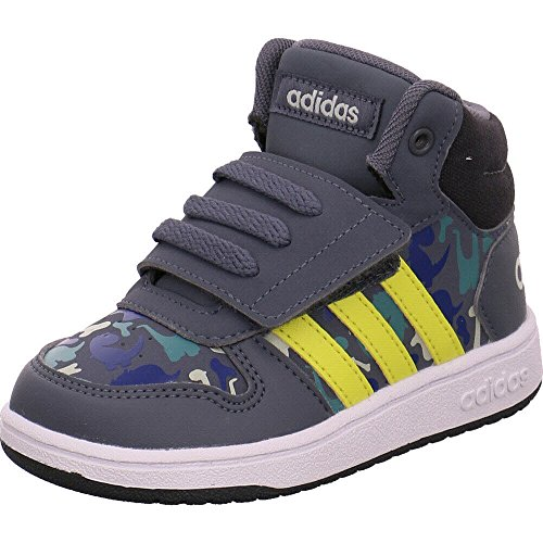 adidas Unisex Baby Hoops Mid 2.0 Sneaker, Grau Onix/Shoyel/Ashsil, 27 EU - Mädchen Sneakers Mid