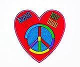 Rabana Rose faites l'amour pas la guerre Dessin animé pour enfants Cute Animal Patch pour DIY Applique Iron on Patch T-shirt Patch coudre fer brodé sur badge Signe fantaisie