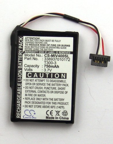 Batteria CameronSino CS-MIV400SL PER NAVIGATORE GPS MITAC MIO MOOV 400 405 T300-3 750MAH 3,7V Li-Ion
