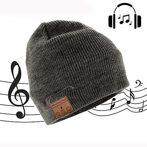 Bluetooth Beanie Hat, Yingtan Drahtloser Bluetooth Strickmütze Musik Braid Hat Cap Kopfbedeckungen Cap mit Stereo-Lautsprecher Für Running Outdoor Sports Skifahren Camping Wandern