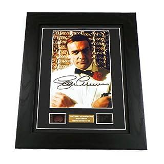 artcandi James Bond Goldfinger Signed + Goldfinger Film Cells Framed