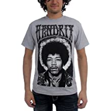 Jimi Hendrix - - Herren Halo T-Shirt in Heather Grey