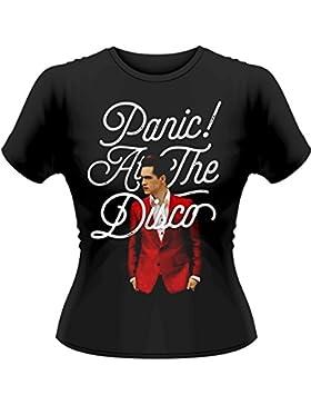Camiseta Skinny Panic! At The Disco Brendon Urie (Negro)