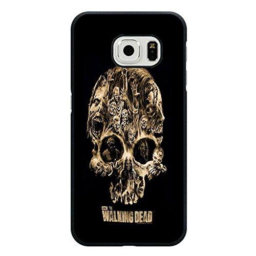 Coque Samsung Galaxy S6 Edge Cover Shell Fashionable Horror Skull Horror Zombies TV The Walking Dead Phone Case Cover Hipster Weird,Cas De Téléphone