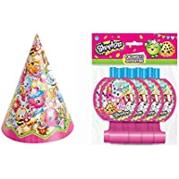 Shopkins party hats and Blowouts (8 Guests) by Party Supplies
