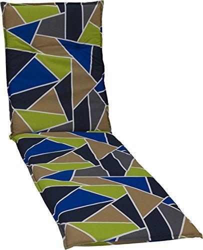 beo Gartenstuhlauflagen Saumauflage für Rolliegen graphisches Design, circa 190 x 58 x 6 cm,...