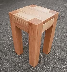 beistelltisch kernbuche massiv farah ma e 30x30x50cm. Black Bedroom Furniture Sets. Home Design Ideas
