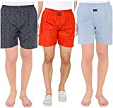#4: Nick&Jess Mens 100% Cotton Printed Boxer Shorts(STEAL DEAL-Pack of 3)