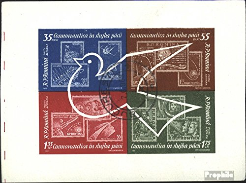 Prophila Collection Rumänien Block53 (kompl.Ausg.) 1962 Weltraumforschung (Briefmarken für Sammler) Weltraum