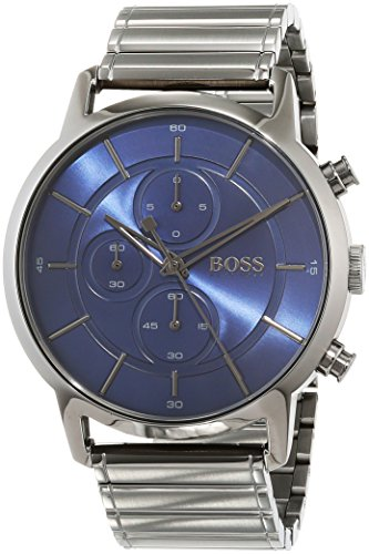 Hugo BOSS Unisex Chronograph Quarz Uhr mit Edelstahl Armband 1513574