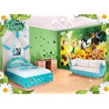 fototapete kinderzimmer disney tinkerbell tapete peter pan. Black Bedroom Furniture Sets. Home Design Ideas