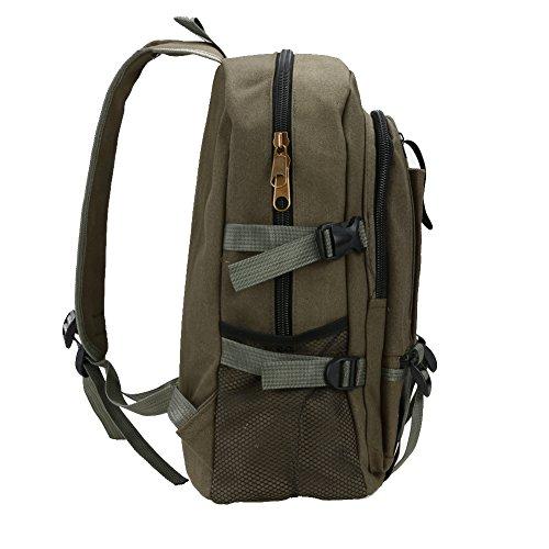 Broadroot Outdoor tela viaggio zaino multifunzione zaino per la scuola montagna escursionismo sacco per uomini ragazzo, Brown Brown