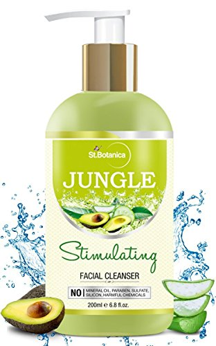 StBotanica Jungle Stimulating Face Wash Cleanser with Avocado, Aloe vera & Cucumber 200ml