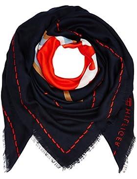 Tommy Hilfiger Damen Halstuch Heart Scarf Mehrfarbig (Corporate Mix 901), One size (Herstellergröße: OS)