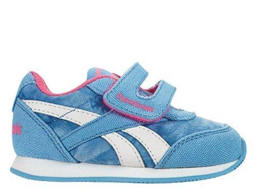 Reebok Baby Jungen Royal Cljog 2GR KC Sneakers, Blau / Rosa / Weiß (Galaxy / Solar Pink), 22 EU