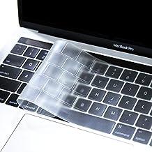 Mosiso Premium Ultra Thin Housse de Protection de Clavier pour MacBook Pro avec Touch Bar 13/15 (2017 et 2016 Libération, A1706/A1707) - EU Layout, TPU Clair