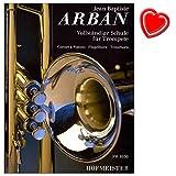 Escuela Completo para trompeta (rc-cornet à Pistons–Fliscorno–Tenor Horn) de Jean Baptiste Arban–Banda Completo: Incluye las partes 1–3con Bunter herzförmiger Ordenador Pinza