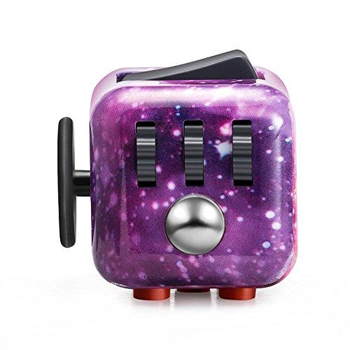 #M&T TECH Fidget Cube Stresswürfel Zappeln Cube mit 6 unterschiedliche Funktionen Entlastet Stresswürfel und Angst für Kinder und Erwachsene Spielzeug (Himmel)#