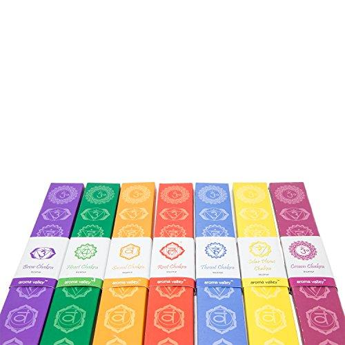 ShalinIndia Eco Friendly Organic Handgefertigte 7 Chakren Aroma Räucherstäbchen, 10 Räucherstäbchen in jeder Packung, perfekt für Meditation, Entspannung und Heilung -