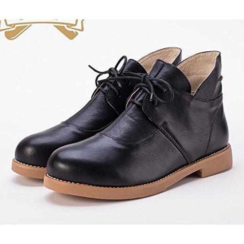 Chaussures à bout rond à lacets marron Casual femme gXQQH