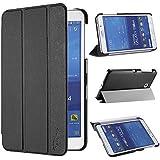 tinxi® PU piel funda para Samsung Galaxy Tab 4 7.0 / T230 protectora Cover Tablet Notebook Case con el negro fondo