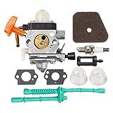 B Blesiya Vergaser Zündkerze Kraftstofffilter Set Für ZAMA C1Q-S131C für Einen FS90 4 Cycle Trimmer