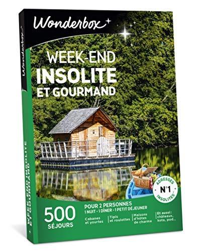 Wonderbox - Coffret Cadeau séjour - WEEK END INSOLITE ET GOURMAND - 500 séjours en...