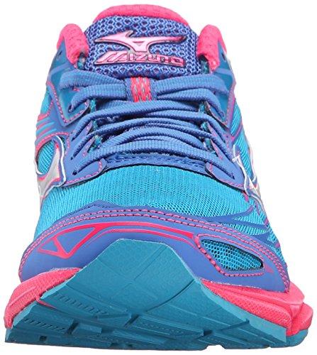 Mizuno Wave Catalyst Maschenweite Laufschuh Atomic Blue/Whit/Diva Pink