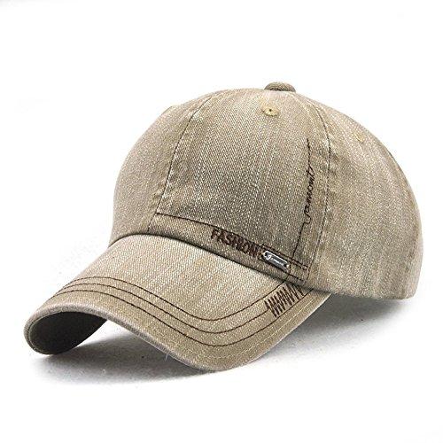 LAOWWO Waschen Denim Baseball Cap Classic Design Freizeit Lässig Mütze Einstellbar Draussen Sport und Reisen Sandwich Peak Cap Herren
